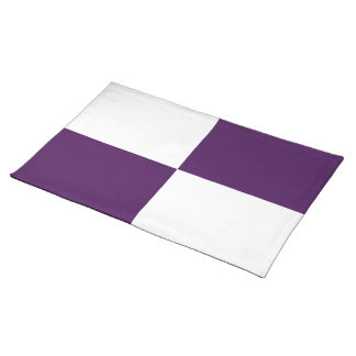 Royal Purple and White Rectangles Placemat