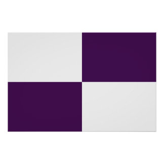 Royal Purple and White Rectangles Poster