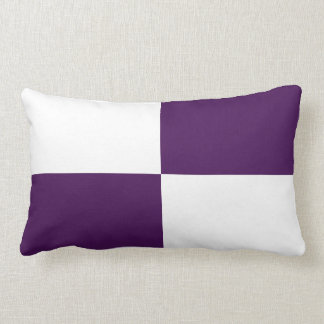 Royal Purple and White Rectangles Throw Pillow