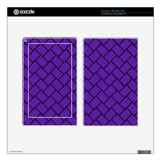 Royal Purple Basket Weave 2 Decals For Kindle Fire