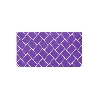 Royal Purple Basket Weave Checkbook Cover