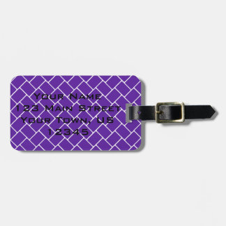 Royal Purple Basket Weave Luggage Tag