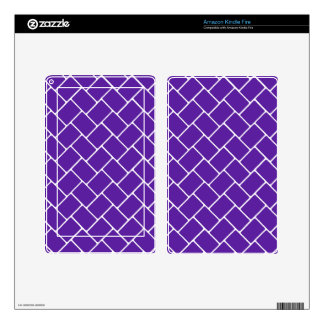 Royal Purple Basket Weave Decals For Kindle Fire