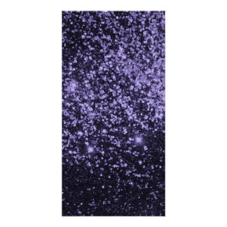 ROYAL PURPLE BLACK  SPARKLE GLITTER BACKGROUND PAR CARD