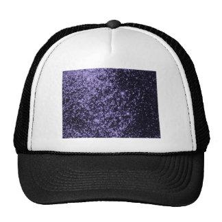 ROYAL PURPLE BLACK  SPARKLE GLITTER BACKGROUND PAR TRUCKER HAT