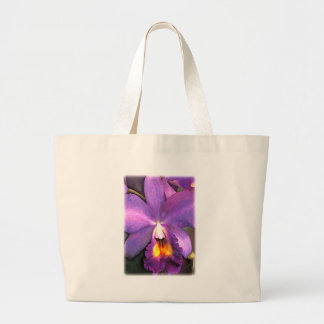 Royal Purple Cattleya Orchid Large Tote Bag