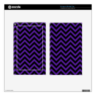 Royal Purple Chevron 2 Skins For Kindle Fire