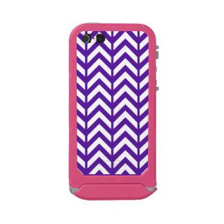 Royal Purple Chevron 3 Waterproof Case For iPhone SE/5/5s