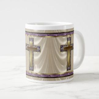 Royal Purple Cross Large Coffee Mug