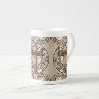 Royal Purple Cross Tea Cup