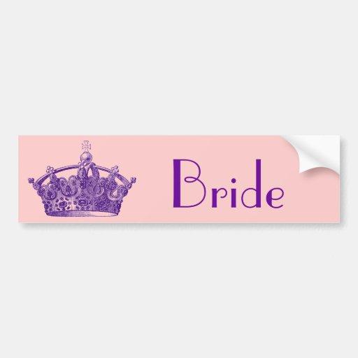 Royal Purple Crown Bumper Sticker
