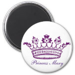 Royal Purple Crown Fridge Magnet