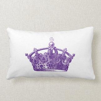 Royal Purple Crown Pillow
