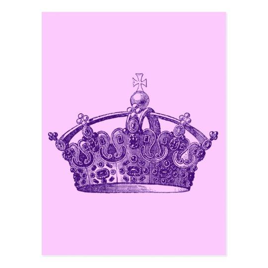 foto de Royal Purple Crown Postcard Zazzle com