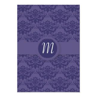Royal Purple Damask Wedding Personalized Invite