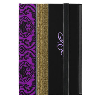 Royal Purple Damask with Celtic Knot Case For iPad Mini