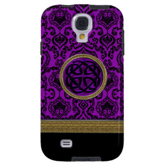 Royal Purple Damask with Celtic Knot Galaxy Case Galaxy S4 Case