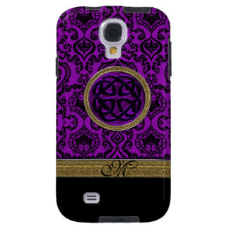 Royal Purple Damask with Celtic Knot Galaxy S4 Case