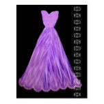Royal Purple Dress with Lace Accent Postcard