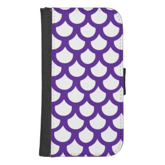 Royal Purple Fish Scale 1 Phone Wallet