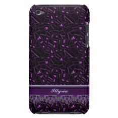 Royal Purple Glitter Personalized Ipod Case at Zazzle