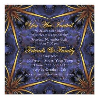 Royal Purple & Gold Birthday Party Invitations