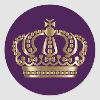 Royal Purple Gold Crown Envelope Seal