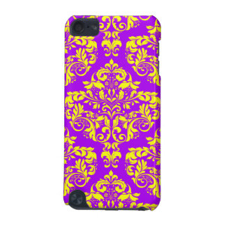 Royal Purple & Gold Damask iPod Touch (5th Generation) Cases