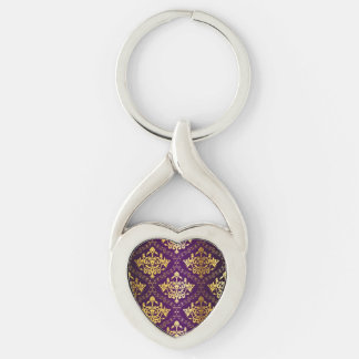Royal Purple & Gold Key Chain
