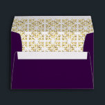 """Royal Purple Gold Ornate Envelope<br><div class=""""desc"""">Customize this beautiful purple envelope with your name and address on the back flap.</div>"""