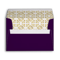 Royal Purple Gold Ornate Envelope