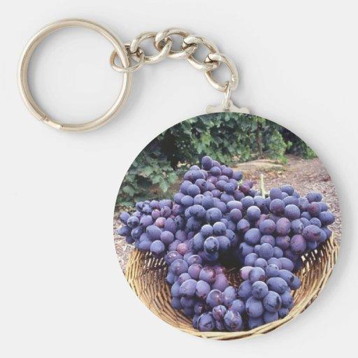 Royal Purple Grapes Keychain