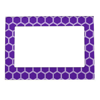 Royal Purple Hexagon 1 Magnetic Picture Frame