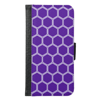 Royal Purple Hexagon 1 Wallet Phone Case For Samsung Galaxy S6