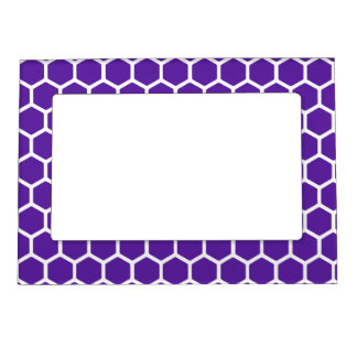 Royal Purple Hexagon 2 Magnetic Picture Frame
