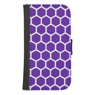 Royal Purple Hexagon 2 Wallet Phone Case For Samsung Galaxy S4