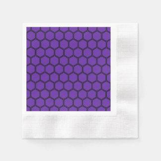 Royal Purple Hexagon 3 Napkin