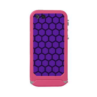 Royal Purple Hexagon 3 Waterproof Case For iPhone SE/5/5s
