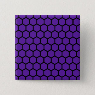 Royal Purple Hexagon 4 Button