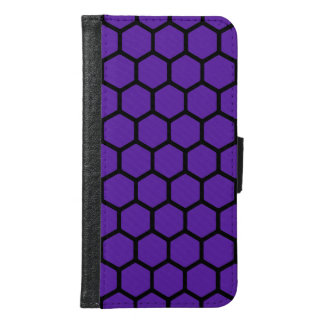 Royal Purple Hexagon 4 Wallet Phone Case For Samsung Galaxy S6