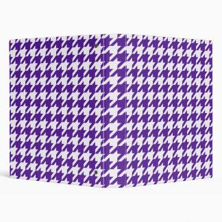 Royal Purple Houndstooth 1 3 Ring Binder