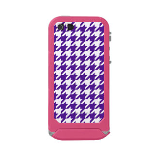 Royal Purple Houndstooth 1 Waterproof Case For iPhone SE/5/5s