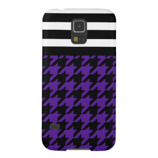 Royal Purple Houndstooth w/ Stripes 2 Case For Galaxy S5