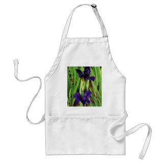 Royal Purple Iris Adult Apron