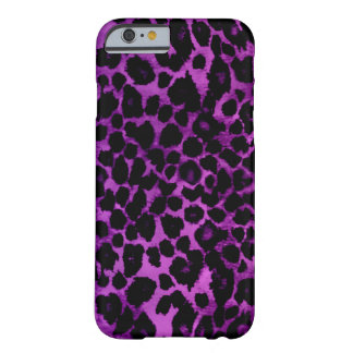 Royal Purple Leopard Print Barely There iPhone 6 Case