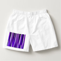 Royal Purple, Lilac and Silver Stripy Pattern Boxers