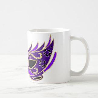 Royal purple masquerade mask coffee mug
