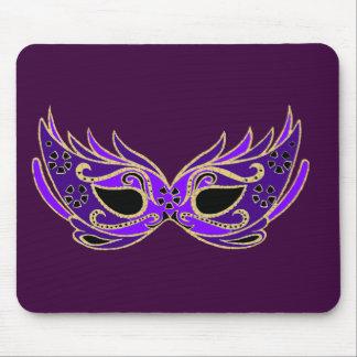 Royal purple masquerade mask mouse pad