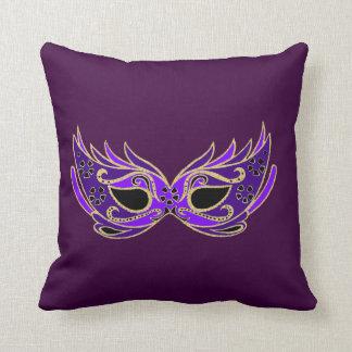 Royal Purple Masquerade mask Throw Pillow
