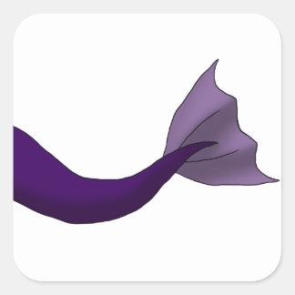 Royal Purple Mermaid Tail Square Sticker
